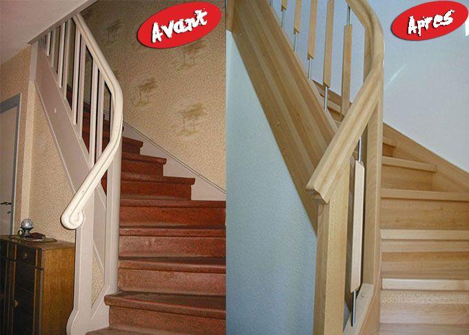 r novation escalier bois escalier renovation escalier. Black Bedroom Furniture Sets. Home Design Ideas