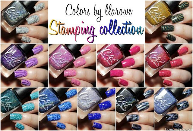 NEW Colors by Llarowe Stamping nail polish collection swatches and review!