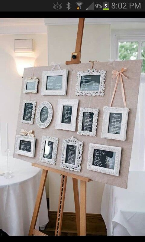 Different way to do a seating arrangement board