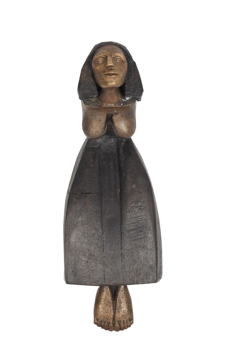 LOT 18 MIRCEA ROMAN Woman from Lăpuş [2012] Bronze 45 × 16 × 23 cm (17.7 × 6.3 × 9.1 inch) Estimate €2,000 - €2,500 Starting price €1,800  http://lavacow.com/current-auctions/lavacow-autumn-auction/woman-from-lapus.html