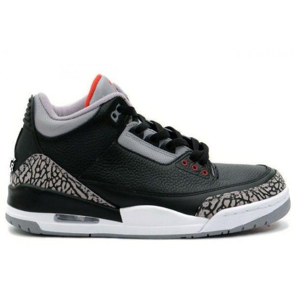 136064 010 Air Jordan Retro 3 Black Cement Grey cheap Jordan If you want to  look 136064 010 Air Jordan Retro 3 Black Cement Grey you can view the Jordan  3 ...