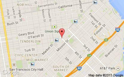 Hotel Palomar San Francisco, a Kimpton Hotel Map