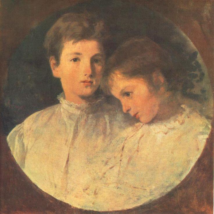 István and Béla by Pál Szinyei Merse