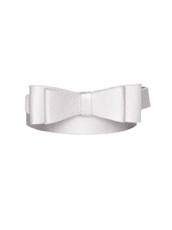 Maddie Bow Belt silver