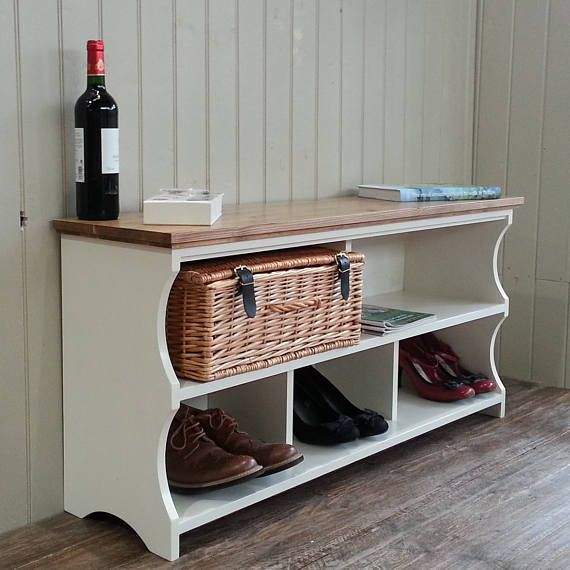 Shoe rack hall shoe bench with storage shelves and