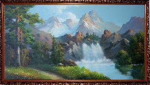Водопад в горах - Водопады <- Картины маслом <- Интерьер <- VIP - Каталог | Универсальный интернет-магазин подарков и сувениров