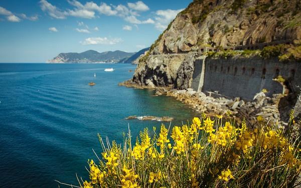 La via dell'Amore (The Way of Love) in Cinque Terre of the Italian Riviera