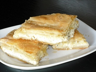 Greek Cheese Pie (Tiropita) - This is another way of making cheese pie - Tiropita. This recipe uses bechamel as well as Feta cheese.