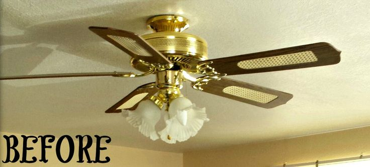 Brass Ceiling Fan Makeover Diy Home Brass Ceiling