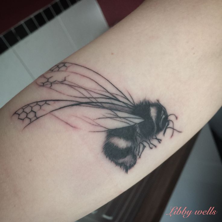 Bumblebee tattoo Libby@needleworktattoo.com