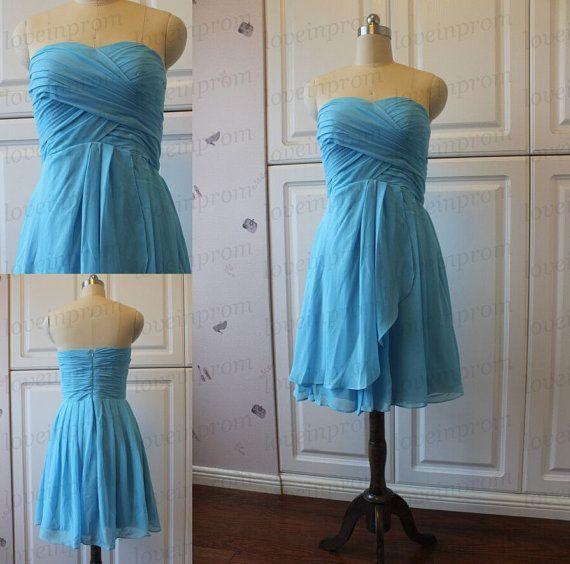Mini robe, robe de demoiselle dhonneur mousseline de soie à la main, bleu clair de demoiselle dhonneur, robe de soirée, robe de mariée, robe de bal PZ27 Description 1, matériel : dentelle, soie élastique comme le satin, pongé. 2, couleur : photo couleur ou autres couleurs,  3, taille : taille standard ou taille personnalisée, si la robe est faite, sur mesure, nous avons besoin de taille comme suit bust___ cm/pouce waist___cm/pouce hanche : ___cm / pouce épaule à épaule : ___cm&...
