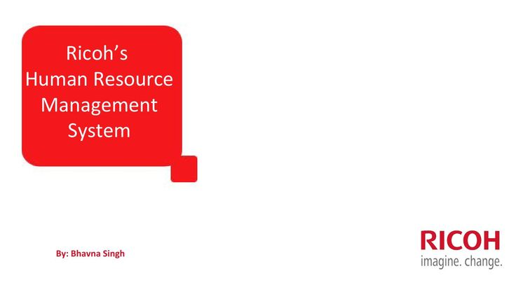 Human Resource Management System - Ricoh India
