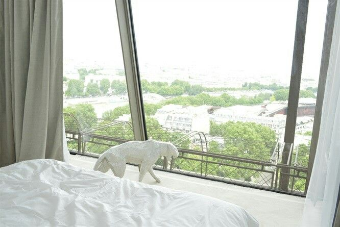 Amazing view for the first house insiede the Eiffel Tower!  #paris #design #interiordesign #eiffel