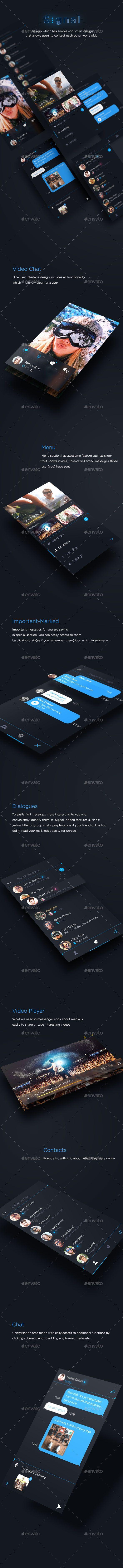 Signal - Messenger App - User Interfaces Web Elements