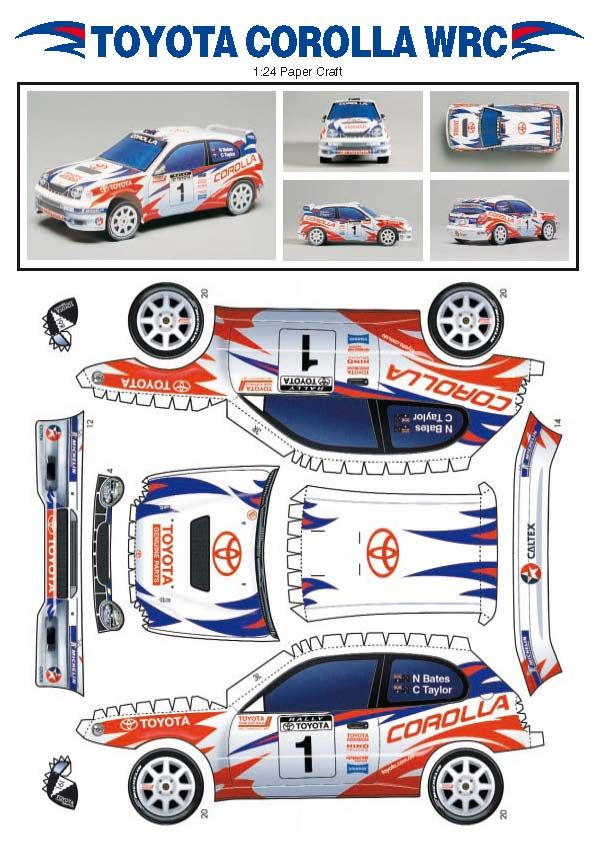 Playing and Crafting: Toyota Corolla WRC