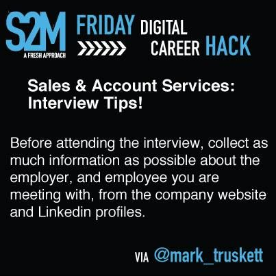 Career Hack #4 -  Sales & Account Services: Interview Tips!