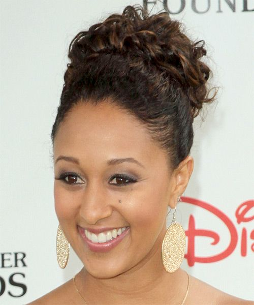 Natural+Curly+Hair+Updos | Tamera Mowry - Hairstyle - side view