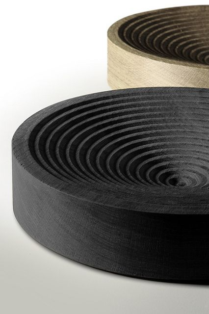 Halo | David Design. Ribbed Oak fruit bowl. A series of bowls with concentric…