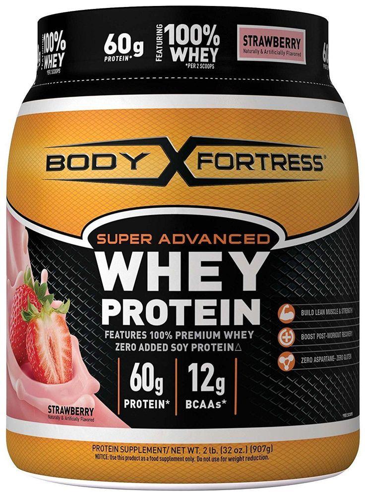 Body Fortress Super Advanced Whey Protein Powder Strawberry 2.lbs