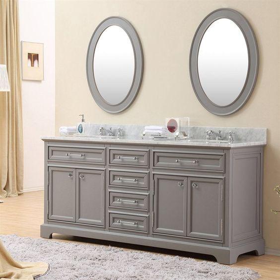 Water Creation Derby 72g 72 Double Sink Bathroom Vanity Top