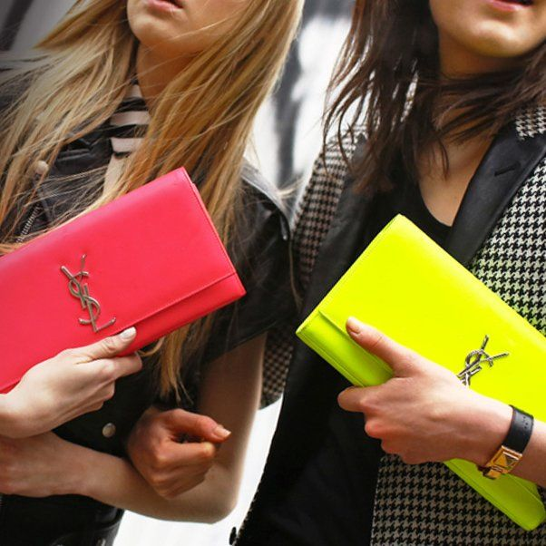 Monogramme Neon Clutch by Saint Laurent. | ? I T | Pinterest ...