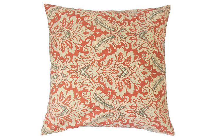 Jasmijn Damask 20x20 Pillow Red Now 5400 Was 6800