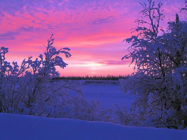 Sunrise in Inuvik, NT
