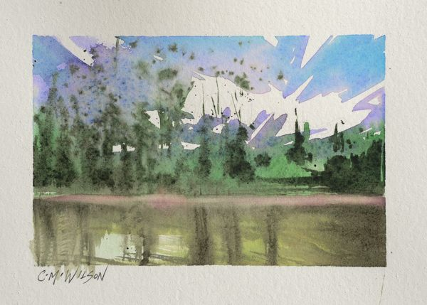 On the Lake - Watercolour on Arches New loose style www.camwilson.ca