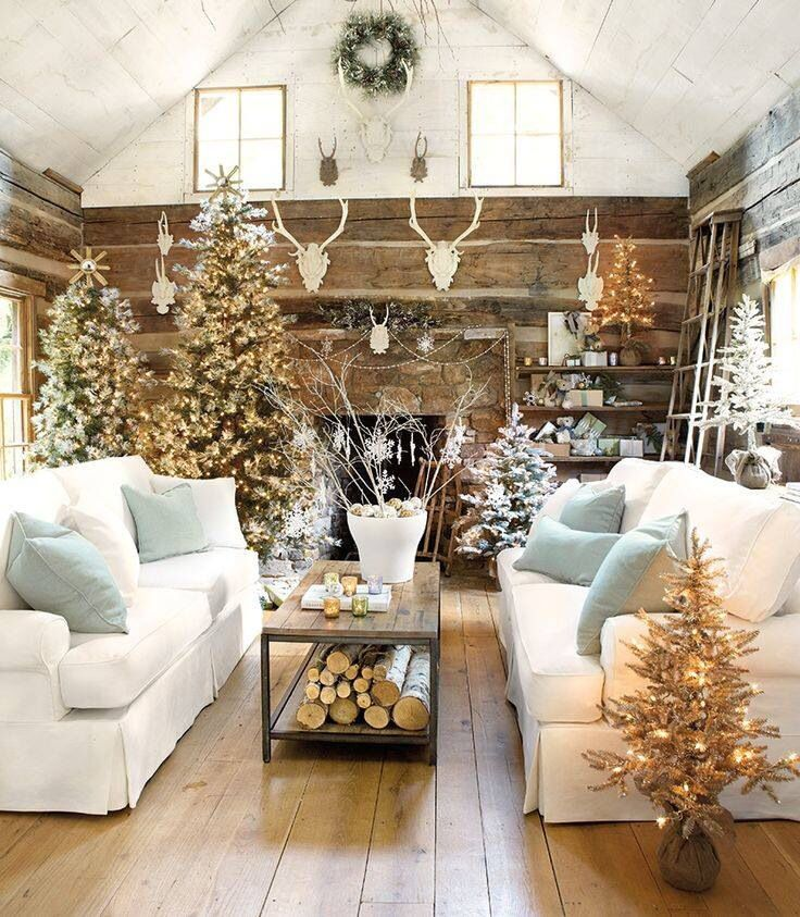 Living room at christmas time