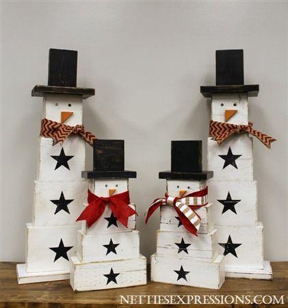 Netties Expressions | Wooden Snowmen                                                                                                                                                                                 More