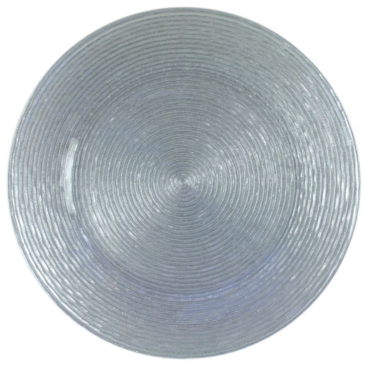 Charge it by Jay Circus Silver Glitter Charger Plate - 1470063