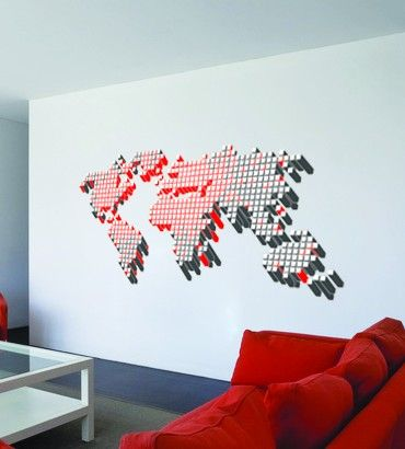 Streetwallz - World Of Pixels Wall Decal, $100.00 (http://www.streetwallz.com/world-of-pixels-wall-decal/)