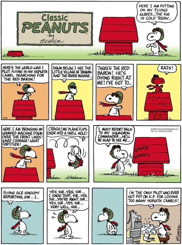 Peanuts Cartoon for Jul/28/2013! Aline