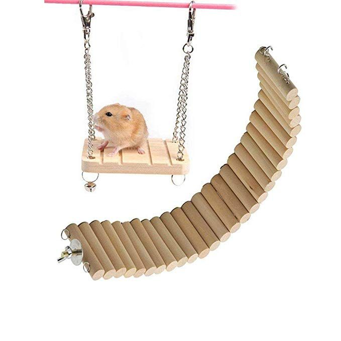 Hamster Tiny Swing Cooling Mat Pad Swing Cage Toy Small Pet Hammock