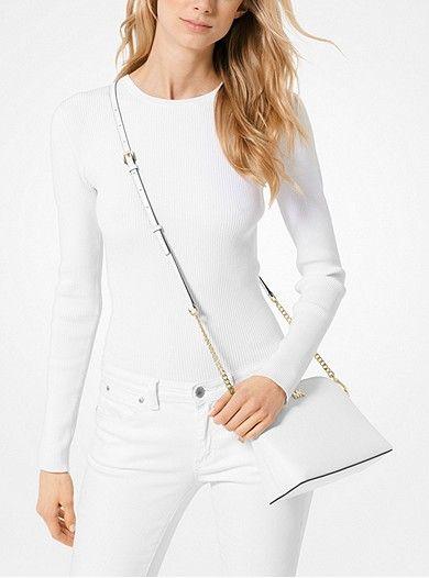 a27b0079079e MICHAEL Michael Kors Large Crossgrain Leather Dome Crossbody in 2019 |  shopping | Michael kors crossbody bag, Leather crossbody bag, Leather