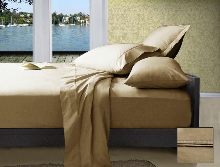 American Pima Cotton Sheet Set, 1000 Thread Count. Plain Design. Fitted Sheet with 40cm Wall, flat and Pillow Cases.