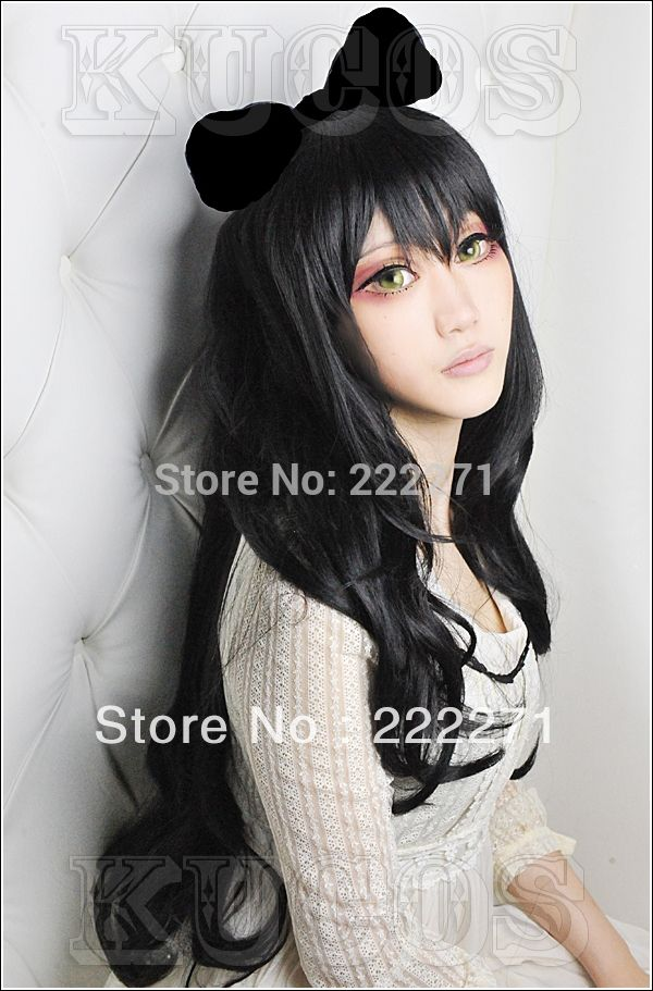 27.99$  Watch more here  - Free Track RWBY Trailer Blake Belladonna Long Curly Costume Party Cosplay Wig Costume Heat Resistant  + Cap