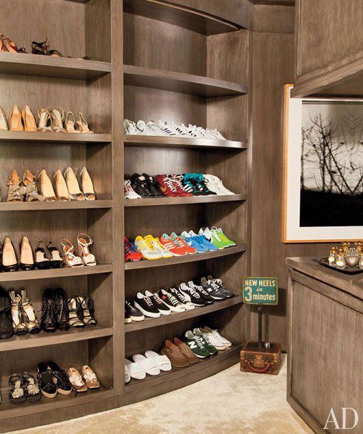 Ellen DeGeneres U0026 Portia De Rossi`s Shoe Closet