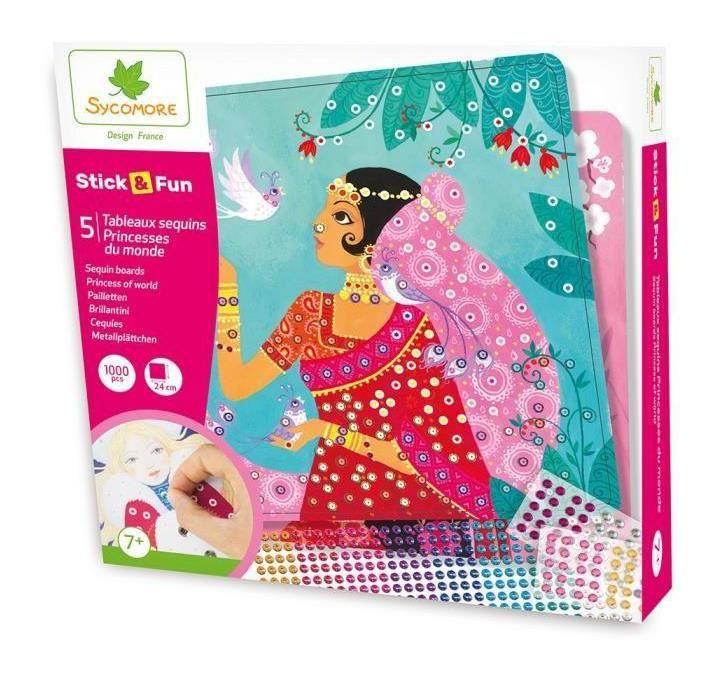 Stickers Fun Princess Sequins