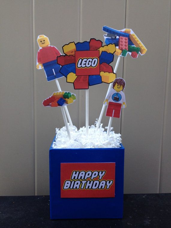 1 Lego inspired Centerpiece  Lego Movie  by MountainViewCreation