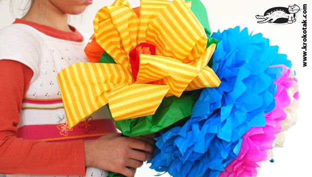 цветя от хартияSummer Crafts, Crepes Paper Flower, Make Flower, Flower Tutorials, Tissue Paper Flowers, Kids Crafts, Large Paper Flower, Tissue Flower, Crepe Paper Flowers