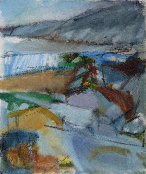 'Erosion', Janine Baldwin, oil & charcoal on canvas, 31 x 25cm www.janinebaldwin.com