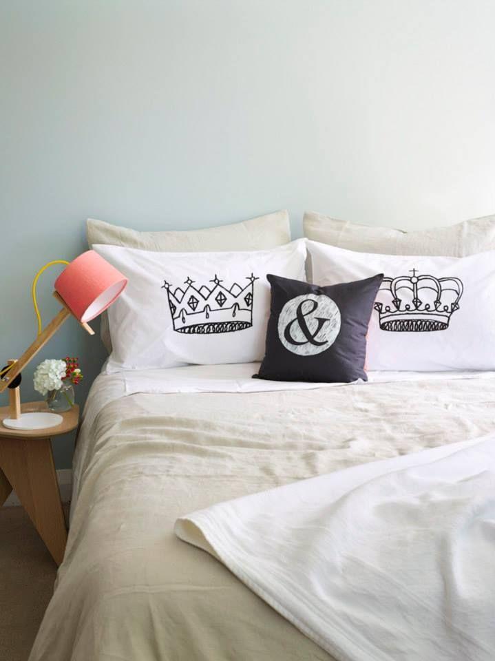 King & Queen Pillowcase Set - Hand Screenprinted! | Felt