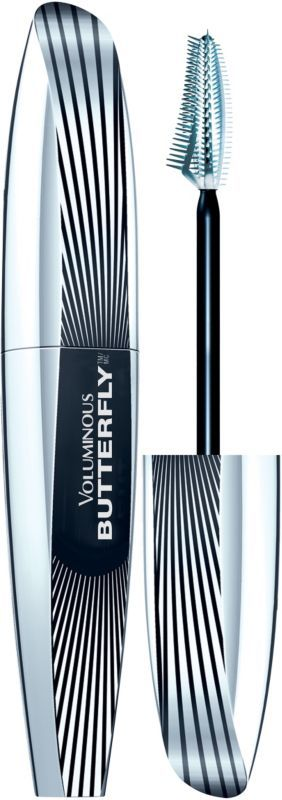 Voluminous Butterfly Mascara, one of L'Oreal Paris most-exciting mascara innovations, yet. It's revolutionary Butterfly Brush with asymmetrical lash line shape extends & lifts outer corner lashes to give you a winged-out effect..