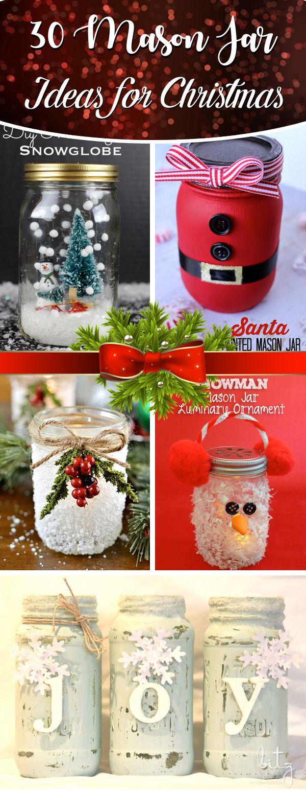 30 Mason Jar Ideas for Christmas That