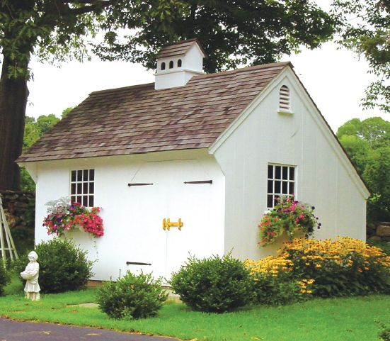 I love this! salt box shed design | shed great for the weekend gardener this 12 x 16 foot saltbox shed ...