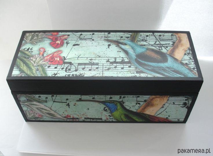 dodatki - pudełka i herbatnice-Herbaciarka Z Ptakami