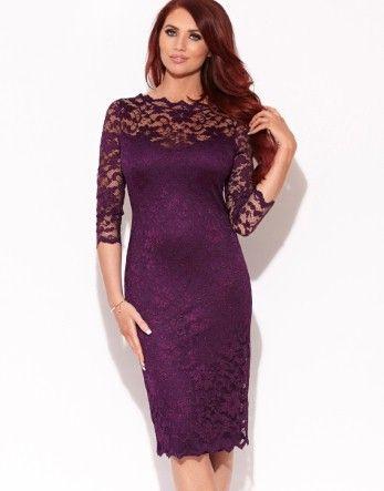 17 Best ideas about Purple Lace Dresses on Pinterest | Plum lace ...