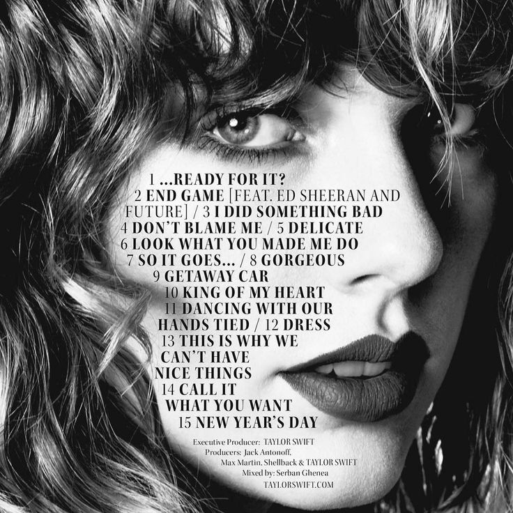 "Taylor Swift Reveals ""Reputation"" Track List, Including a Second Collaboration With Ed Sheeran 