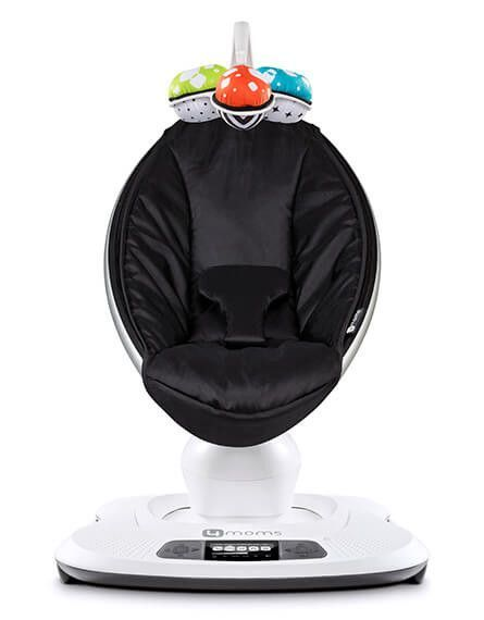 The 4moms̴ mamaRoo infant seat bounces up and down and sways from side to side, just like parents do when comforting their baby. Select from five unique motions, like car ride and tree swing, and five different speeds.